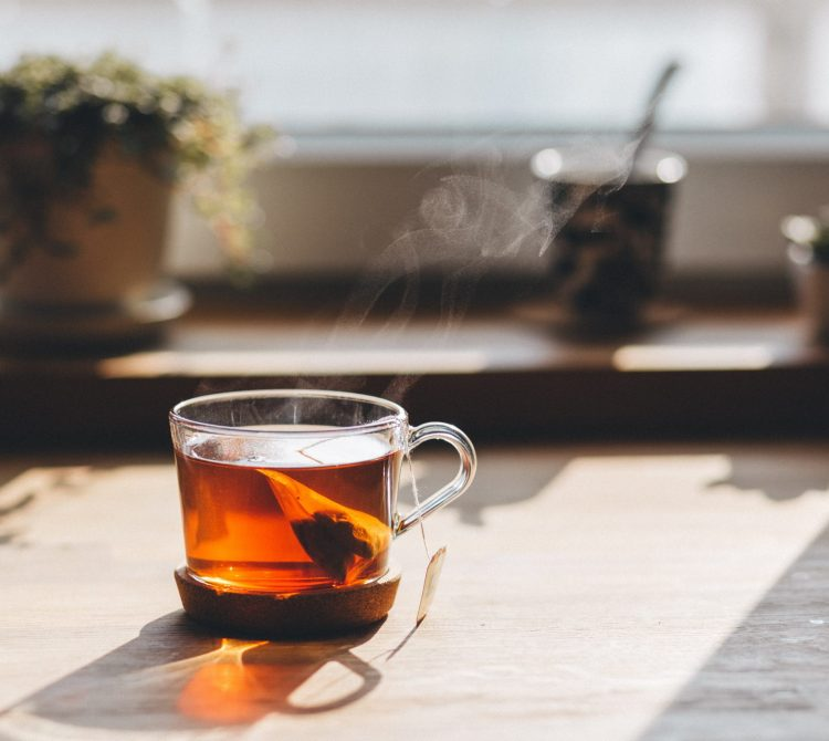 close up of cup of tea